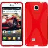 Silicone Case for LG Optimus F5 X-Style red