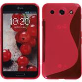 Silicone Case for LG Optimus G Pro S-Style hot pink