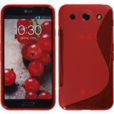Silicone Case for LG Optimus G Pro S-Style red