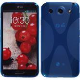 Silikon Hülle Optimus G Pro X-Style blau