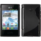 Silicone Case for LG Optimus L3 S-Style black