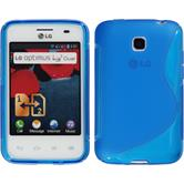 Silicone Case for LG Optimus L3 II Dual S-Style blue