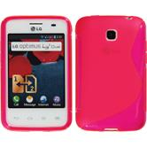 Silicone Case for LG Optimus L3 II Dual S-Style hot pink