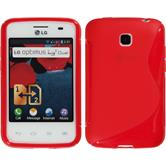 Silicone Case for LG Optimus L3 II Dual S-Style red