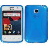 Silicone Case for LG Optimus L3 II Dual X-Style blue