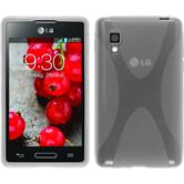 Silicone Case for LG Optimus L4 II X-Style transparent