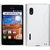 Silicone Case for LG Optimus L5 S-Style white