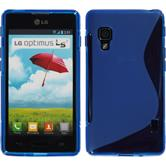 Silikon Hülle Optimus L5 II S-Style blau Case