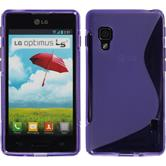 Silicone Case for LG Optimus L5 II S-Style purple