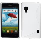 Silicone Case for LG Optimus L5 II S-Style white