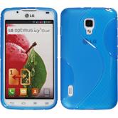 Silicone Case for LG Optimus L7 II S-Style blue