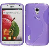 Silicone Case for LG Optimus L7 II S-Style purple