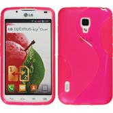 Silicone Case for LG Optimus L7 II S-Style hot pink