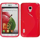 Silicone Case for LG Optimus L7 II S-Style red