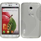 Silicone Case for LG Optimus L7 II Dual S-Style gray