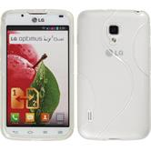 Silicone Case for LG Optimus L7 II Dual S-Style white