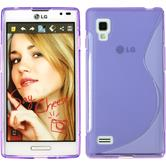 Silicone Case for LG Optimus L9 S-Style purple