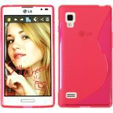 Silicone Case for LG Optimus L9 S-Style hot pink
