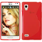 Silicone Case for LG Optimus L9 S-Style red