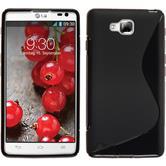 Silikonhülle für LG Optimus L9 II S-Style schwarz