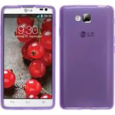 Silicone Case for LG Optimus L9 II transparent purple