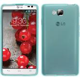 Silicone Case for LG Optimus L9 II transparent turquoise