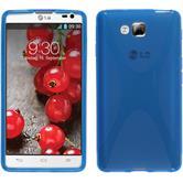 Silikon Hülle Optimus L9 II X-Style blau