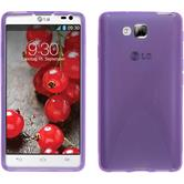 Silicone Case for LG Optimus L9 II X-Style purple