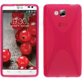 Silicone Case for LG Optimus L9 II X-Style hot pink