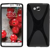 Silicone Case for LG Optimus L9 II X-Style black