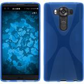 Silikon Hülle V10 X-Style blau