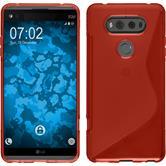 Silikon Hülle V20 S-Style rot + 2 Schutzfolien