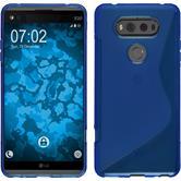 Silikon Hülle V20 S-Style blau + 2 Schutzfolien