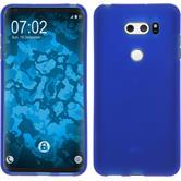Silikon Hülle V30 / V30S ThinQ matt blau Case