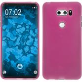 Silikon Hülle V30 / V30S ThinQ matt pink Case