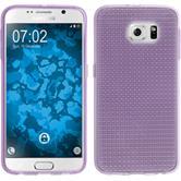 Silikon Hülle Galaxy S6 Iced lila
