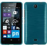 Silikon Hülle Lumia 430 Dual brushed blau