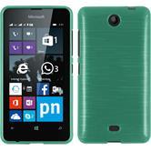 Silikon Hülle Lumia 430 Dual brushed grün