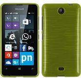 Silikon Hülle Lumia 430 Dual brushed pastellgrün + 2 Schutzfolien