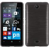 Silikon Hülle Lumia 430 Dual brushed silber
