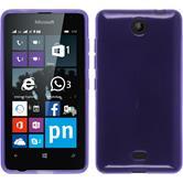 Silikon Hülle Lumia 430 Dual transparent lila