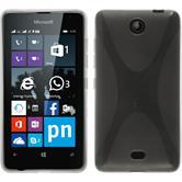 Silikon Hülle Lumia 430 Dual X-Style clear + 2 Schutzfolien