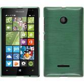 Silikon Hülle Lumia 435 brushed grün