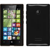 Silikon Hülle Lumia 435 transparent schwarz
