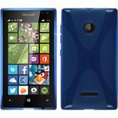 Silikon Hülle Lumia 435 X-Style blau