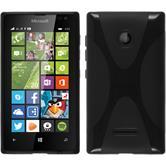Silikonhülle für Microsoft Lumia 435 X-Style schwarz
