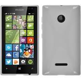 Silikon Hülle Lumia 435 X-Style weiß + 2 Schutzfolien