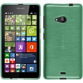 Silikon Hülle Lumia 535 brushed grün + 2 Schutzfolien