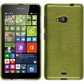 Silikon Hülle Lumia 535 brushed pastellgrün + 2 Schutzfolien