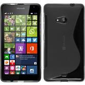 Silikon Hülle Lumia 535 S-Style grau